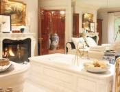 The master bathroom