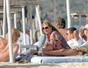 Kate Moss on vacations in St. Tropez, France