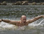 Swimming in the ice-cold Siberian lakes