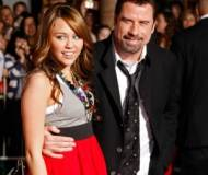 John Travolta and Miley Cyrus