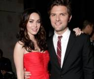 Adam Scott and Megan Fox