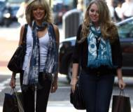 Tiffany with Marla Maples on the streets of Central London
