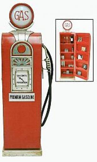 73″ Gasoline Pump Clock & Storage Unit