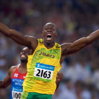 Usain Bolt is world famous sprinter of Jamaican origin. He has won 5 world championships and 3 Olympic gold medals.