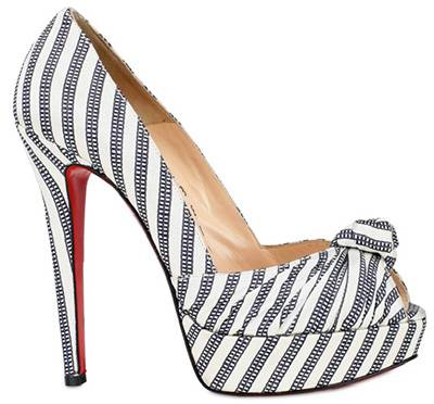 Christian Louboutin Silk Satin Greissimo Pumps