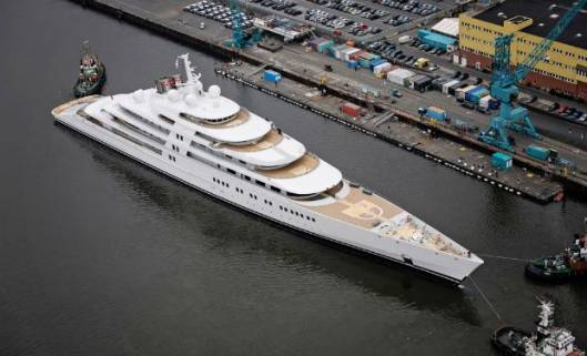 UAE royals' mega yacht nabs top spot