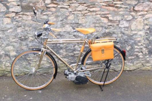 An Italian gold plated bicycle with auxiliary motor goes on sale for just $3,200