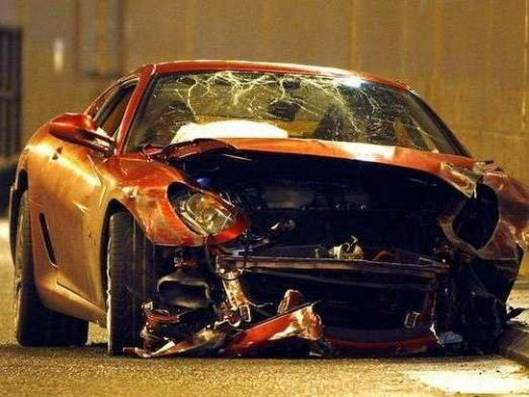 Like Real Madrid star Cristiano Ronaldo? Buy his crashed Ferrari 599 GTB on eBay