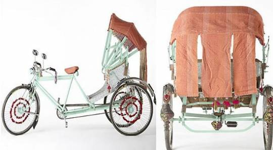 Anthropologie's $2,200 makeover to Indian cycle rickshaw
