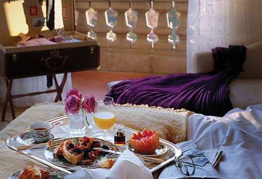 Ultimate Romance package breakfast setting