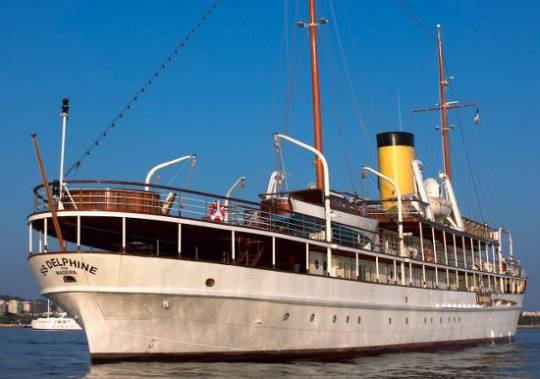SS Delphine yacht remains the last steam powered passenger yacht