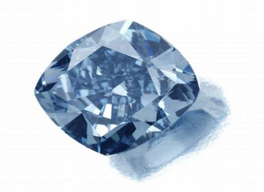 Rare blue diamond