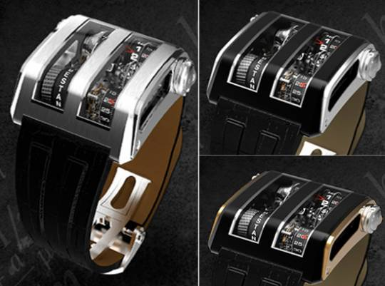 Cabestan Trapezium vertical watch options