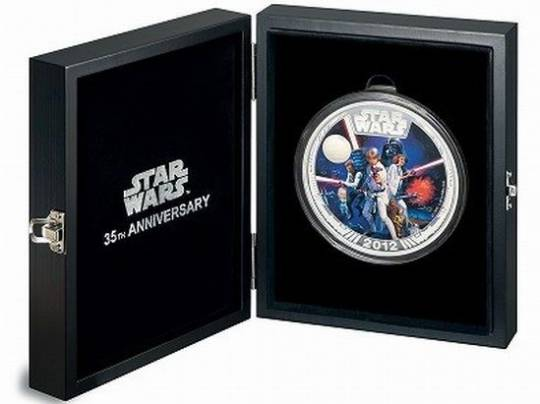 Star Wars commemorative coin case