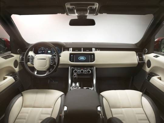The Range Rover Sport Interior with the new Meridian 3D surround sound system