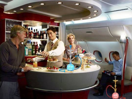 Emirates Airlines is looking to offer shisha lounge services on board their Airbus A380 aircrafts