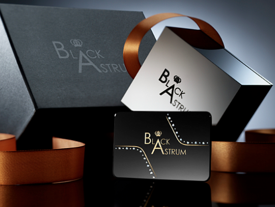 Black Astrum business card