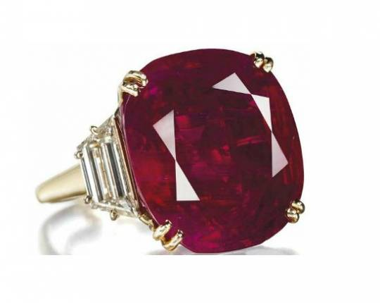Lily Safra's ruby ring