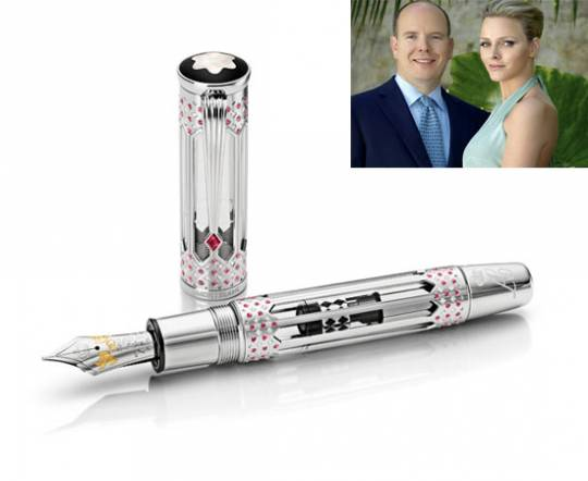 A wedding tribute to Prince Albert II and Princess Charlene form Montblanc