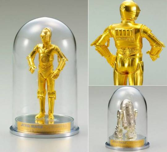 Solid gold Star Wars figurines