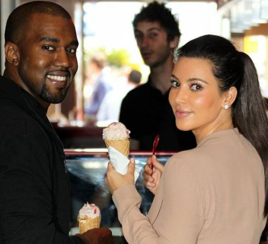 Kim and Kayne together