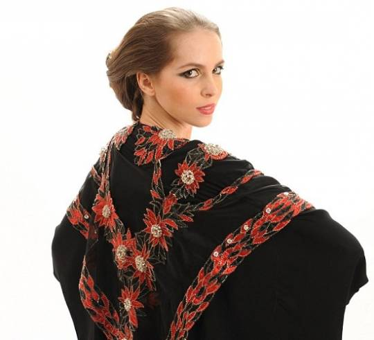 Debbie Wingham's Abaya with most expensive red diamond