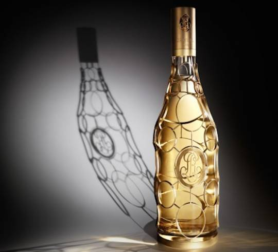 Louis Roederer limited edition Cristal gold Jeroboam bottle