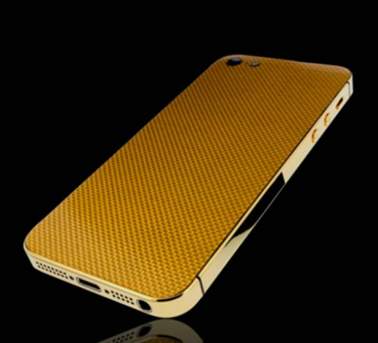 Golden Dreams Gold Carbon fabrication for the iPhone5
