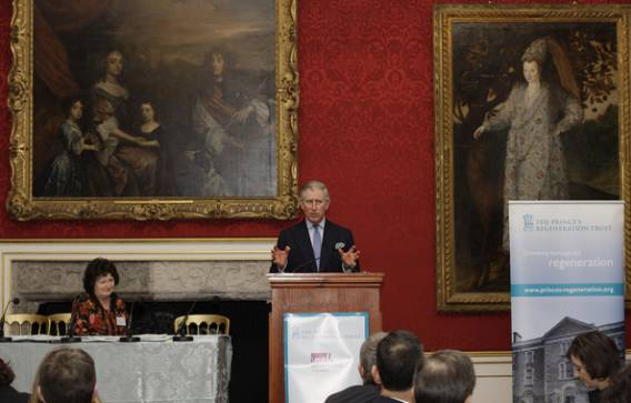 Prince Charles at the joint conference between The Prince's Regeneration Trust and Local Government Association