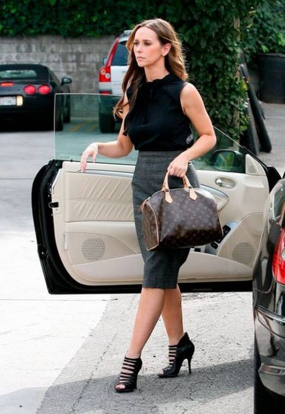 Jennifer Love Hewitt has been spotted wearing L.A.M.B. Women's Hunter Button Strap Bootie on numerous occasions.