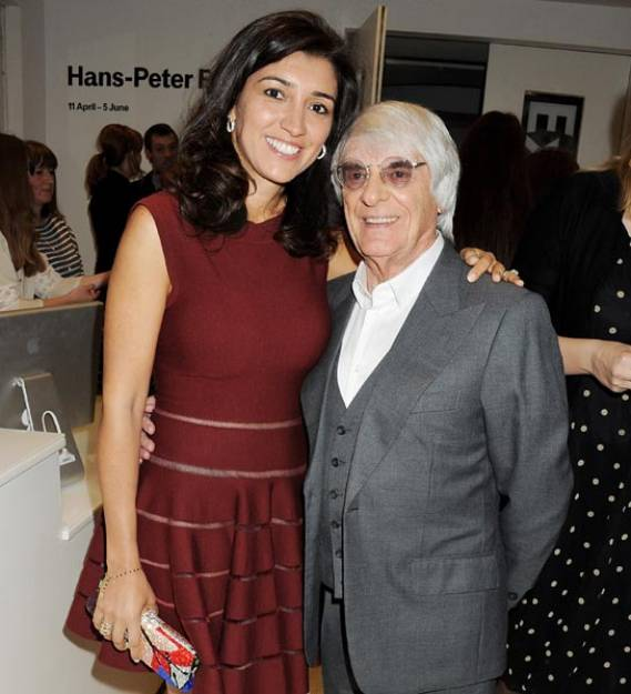 Bernie Ecclestone and Fabiana Flosi were tied in the relationship of marriage at Bernie's Ski chalet in Switzerland