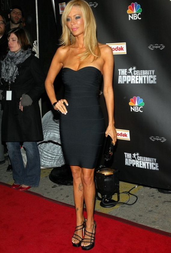 Jenna Jameson was spotted wearing this strapless dress to the premiere of 'The Celebrity Apprentice'.