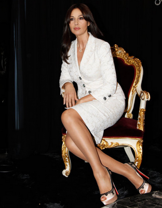 Italian actress and fashion model Monica Bellucci frequently dons these designer pumps.