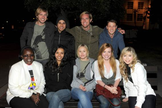 Kristen Bell with different celebrities attends the Invisible Children Global Event