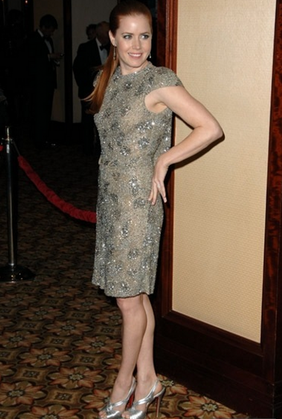Actress Amy Adams has been spotted supporting her soles with the platform pumps from Christian Louboutin.