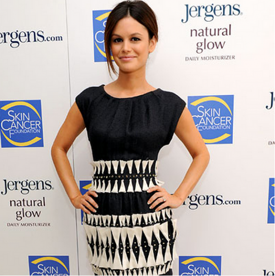 Rachel Bilson participated in the Glow in the Dark campaign run by cosmetics manufacturer Jergens.