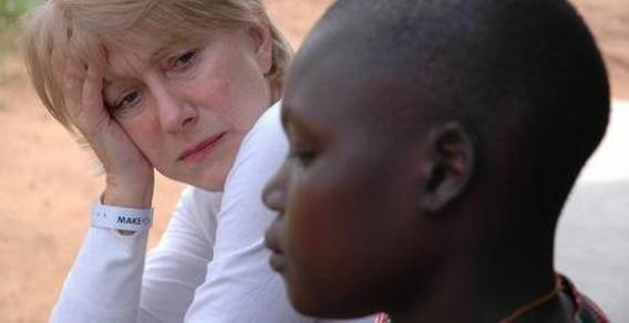 Helen Mirren supports the efforts of Children of Peace