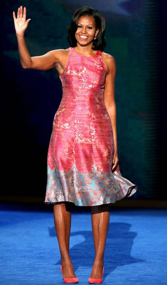Michelle donned her designer pumps at the Democratic Party National Convention on September in North Carolina.