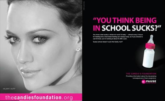Hilary Duff supports Candie's Foundation