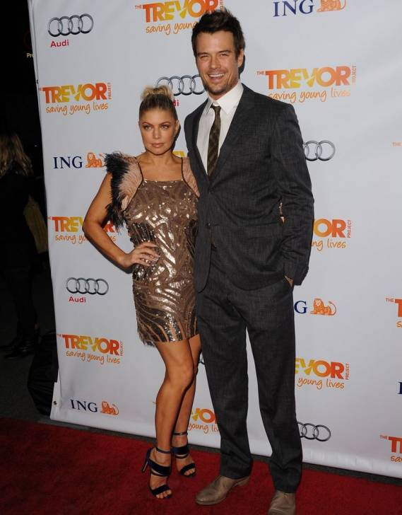 Josh Duhamel with his partner at The Trevor Project event