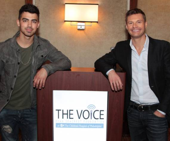 Joe Jonas supports Ryan Seacrest Foundation