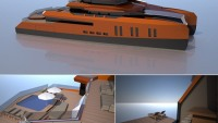 Misha Merzliakov's Eva yacht concept could be the largest superyacht catamaran in the world