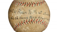 Babe Ruth Home Run ball is one of the most important baseball memorabila to go on auction
