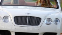 Heidi Klum drives Bentley Continental GTC  for a commercial add