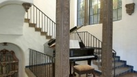 Iron staircase in living hall