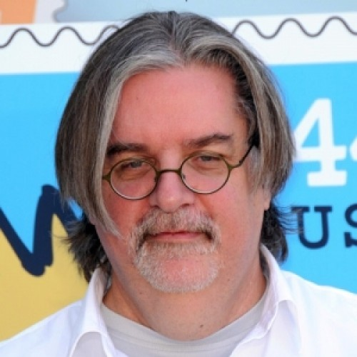 The 63-year old son of father Homer Philip Groening and mother Margaret Ruth, 175 cm tall Matt Groening in 2017 photo