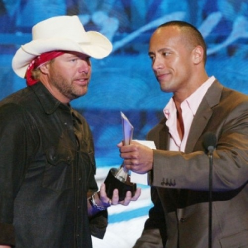 Dwayne Johnson and Toby Keith