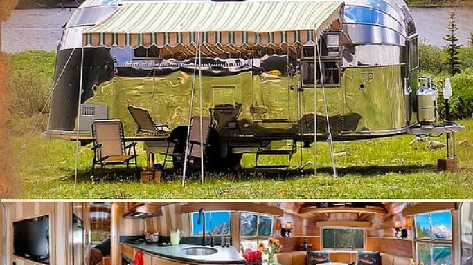 Classic 1954 Airstream caravan restored and up for auction for upto $450K