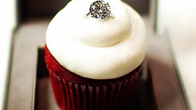 Most expensive Valentine's Day Idea: $55,000 sparkling red velvet cupcake