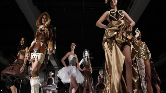 Edible chocolate gowns are from the real-life Chocolate Factory